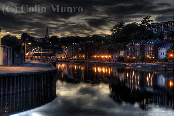 Exeter quayside on a warm summer night. image copyright Colin Munro Photography