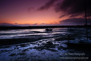 Sunrise over Cockwood Harbour at low tide, Exe Estuary, Devon. Colin Munro Photography. www.colinmunrophotography.com