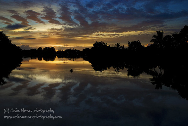 Sunrise over the Navua River near Beqa Lagoon, Viti Levu, Fiji. Colin Munro Photography