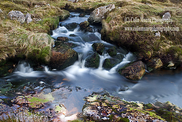 Boulders and small waterfalls on the East Dart River, high on Dartmoor above Two Bridges. Dartmoor National Park. Fine Art prints for sale. Colin Munro Photography. www.colinmunrophotography.com