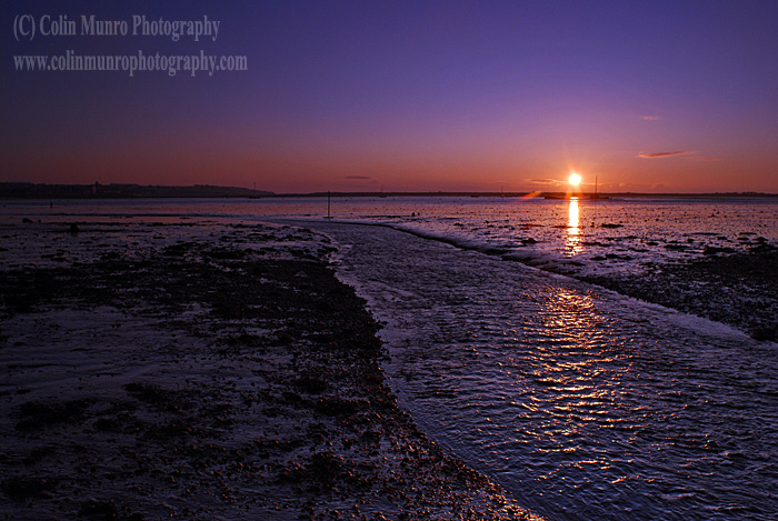 Sunrise over mudflats, Exe Estuary near Cockwood Harbour. Colin Munro Photography. www.colinmunrophotography.com