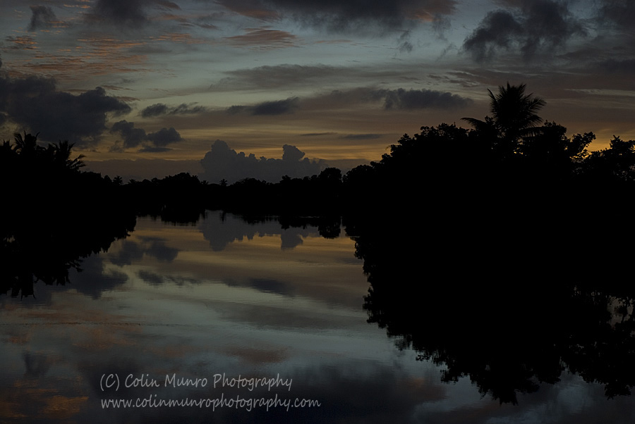 Sunrise over the Navua River, Viti Levu, Fiji. Colin Munro Photography www.colinmunrophotography.com