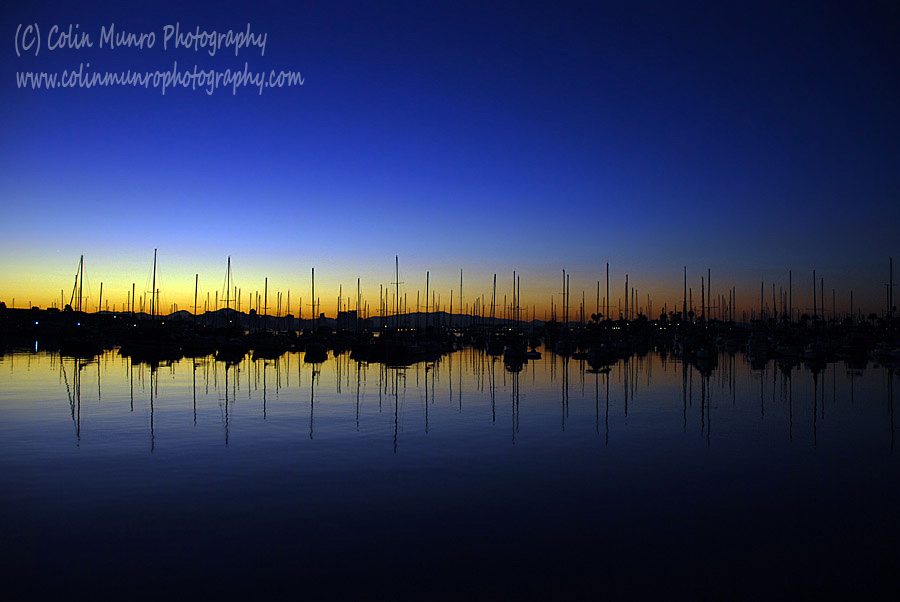 San Diego Bay at dawn. Colin Munro Photography