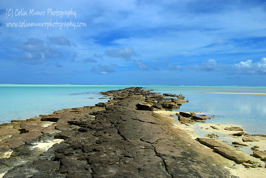 Volcanic rock spit, Tapuaetai island (one foot island), Aitutaki atoll, Cook Islands, South Pacific. Colin Munro Photography
