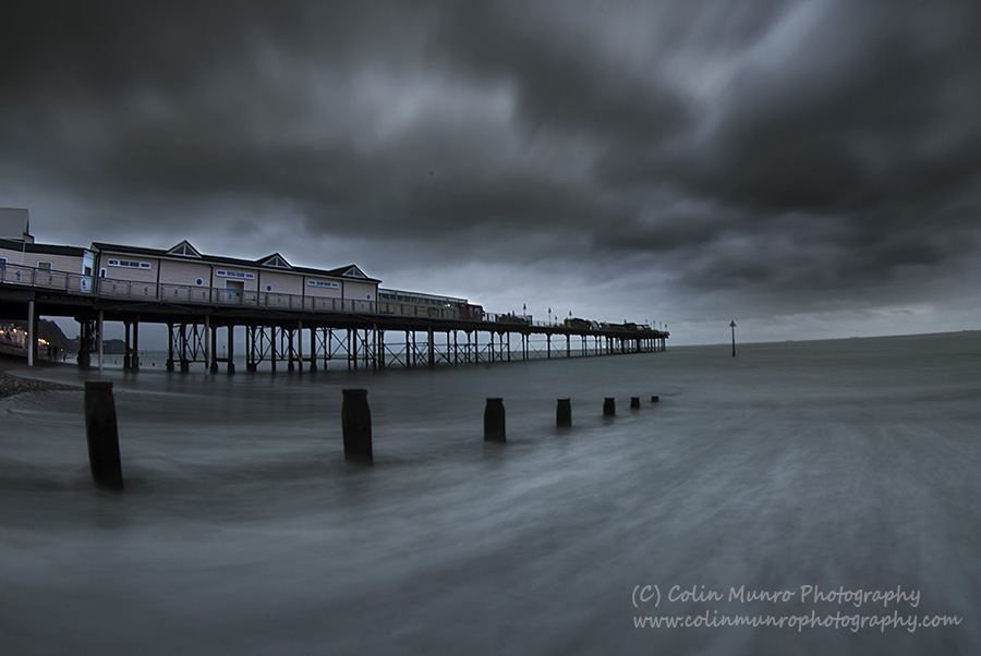 Stormy skies over Teignmouth pier, Teignmouth, South Devon, England. Colin Munro Photography