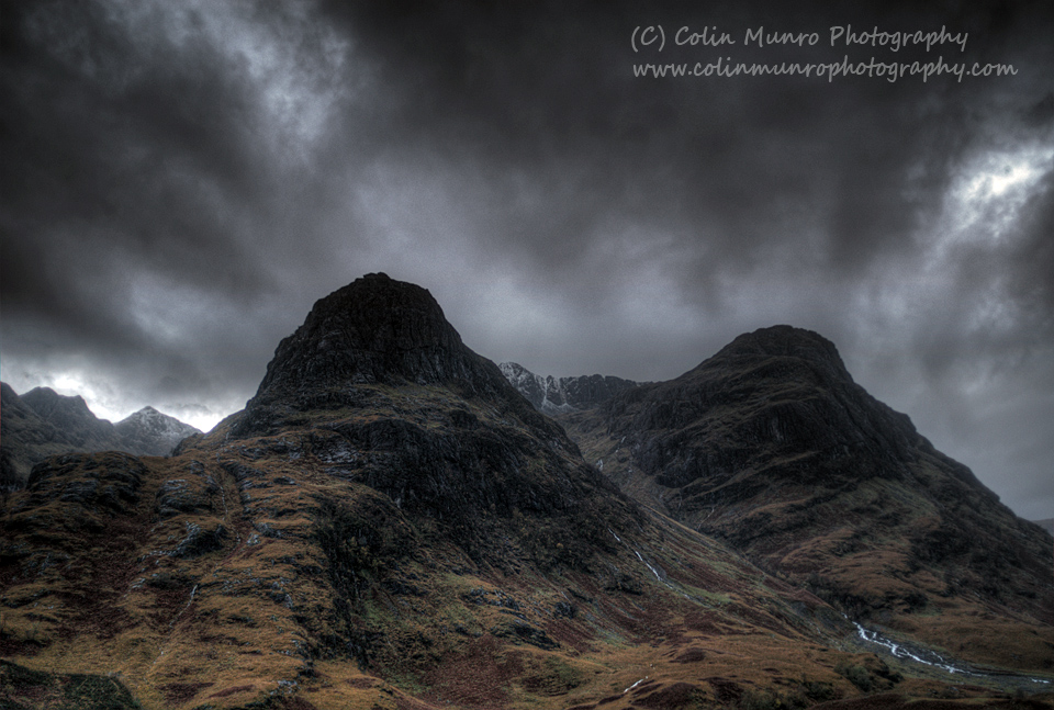 The Three Sisters of Glen Coe, Glen Coe, Highlands, Scotland.  Colin Munro Photography