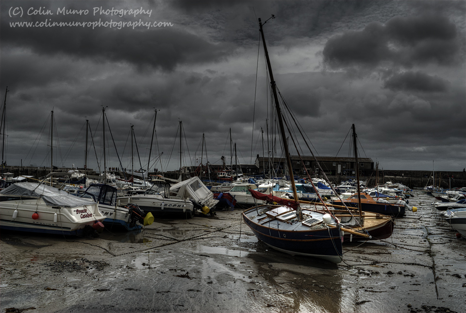 The Cobb, Lyme Regis, at low water. Lyme Regis harbour. Colin Munro Photography