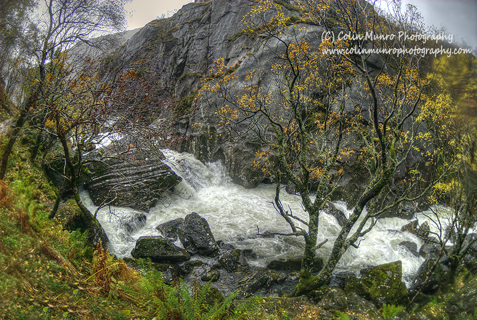 River Nevis in spate, Glen Nevis, Scottish Highlands. Colin Munro Photography