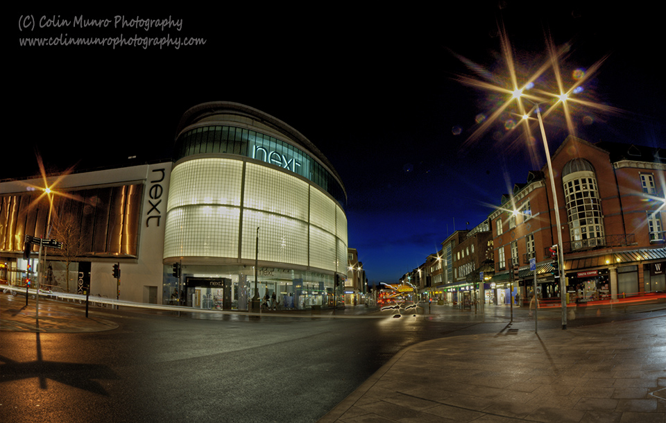 Exeter High Street at night