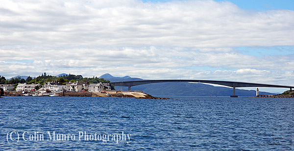 Skye Bridge and village of Kyleakin on the east coast of the Isle of Skye. Image MBI000903.