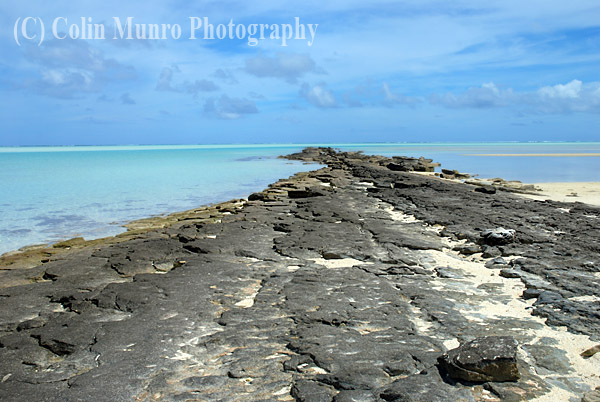 Coral platform, Tapuaetai island (one foot island), Aitutaki atoll, Cook Islands, South Pacific. Image MBI000905.