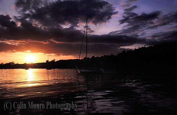 Setting sail at sunset, Crosshaven, Ireland