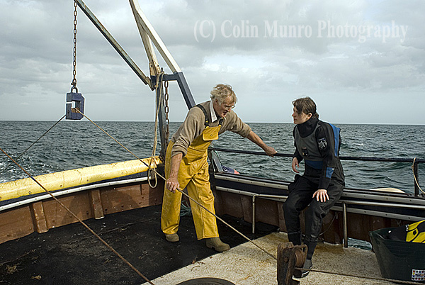 John and Lynsey in deep discussion as we trawl for a couple of hours.