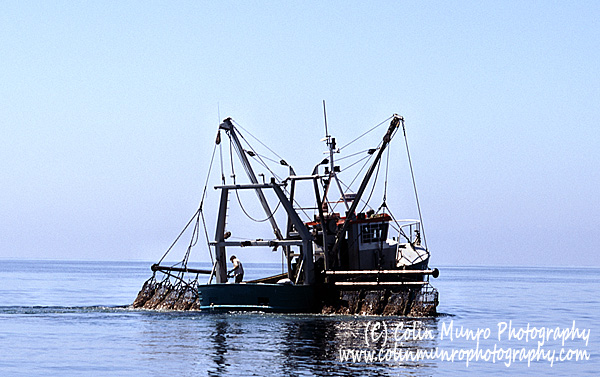 Scallop dredger with five dredges either side. Colin Munro Photography