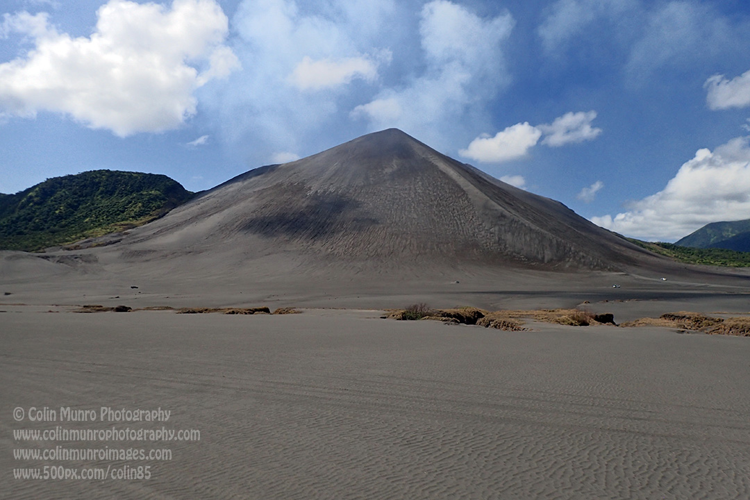Ash plains, fallout from previous eruptions, surround Mount Yasur volcano, Tanna, Vanuatu. © Colin Munro Photography
