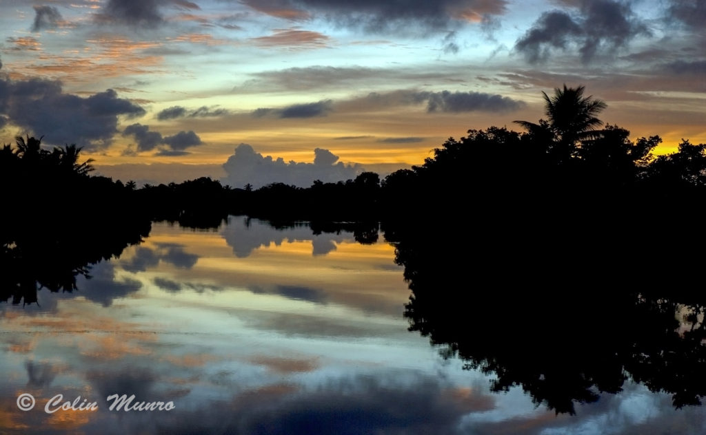 Sunrise over Pacific Harbour Lagoon, Viti Levu, Fiji. Fine art print for sale.