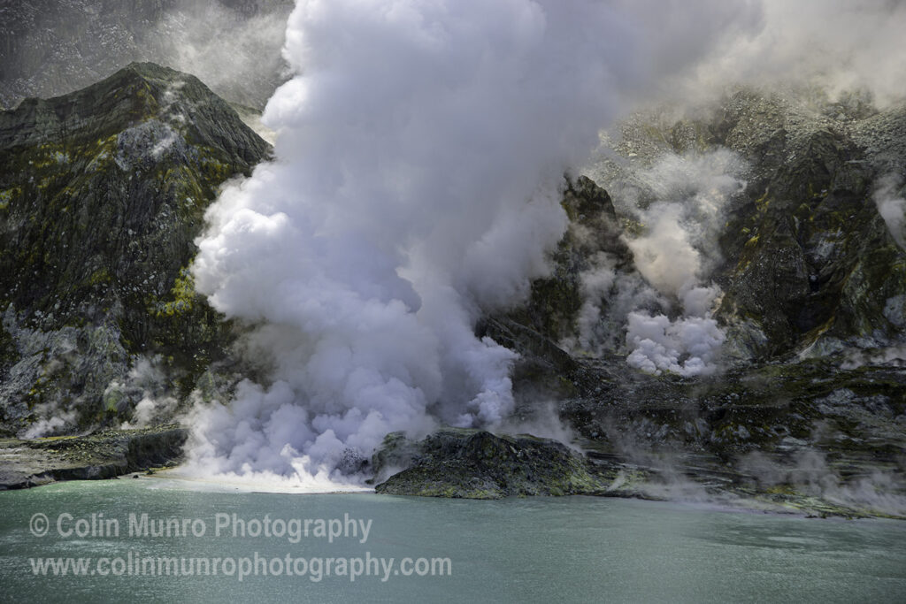 White Island stratovolcano crater lake, New Zealand